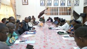 Visite des préfets Monsieur Modeste TOBOULA et Monsieur Jean Claude Codjia à l'Institut Géographique National